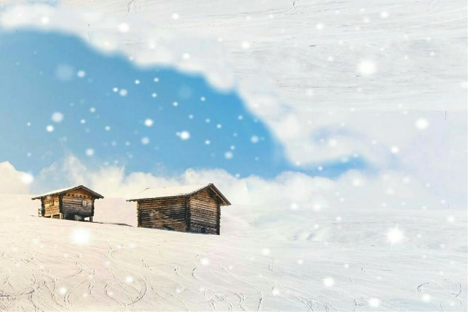 #FreeToEdit  #snow  #winter  #house  #wintersky