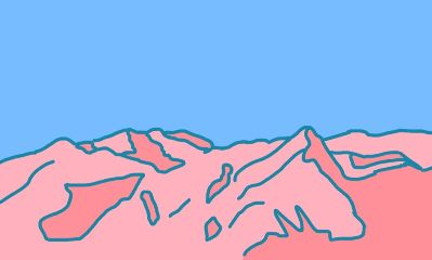 mountains illustration minimal freetoedit