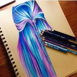 cutegirl beutyfull beautyhair colorful collage freetoedit
