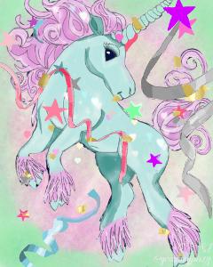 wdpconfetti joyful unicorn good all