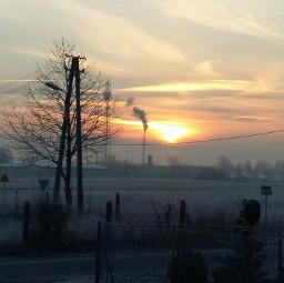 morning clouds sun 2016 winter