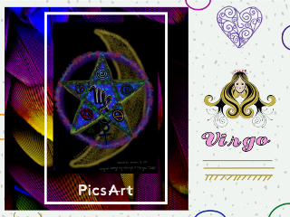 zodiac colorful layers frames stickers