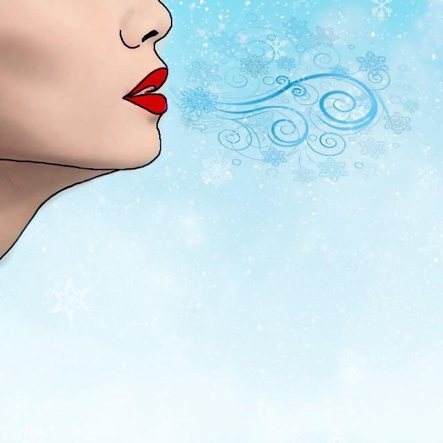 #FreeToEdit #draw #cartoonized #breath #girl #cold #redlips