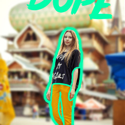 freetoedit dope basicstickers girl blur