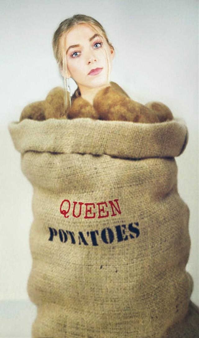 #FreeToEdit #girl #queen #potatoes #sack
