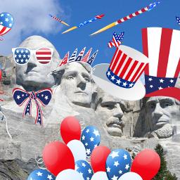 freetoedit patriotic redwhiteandblue presidentsday presidents