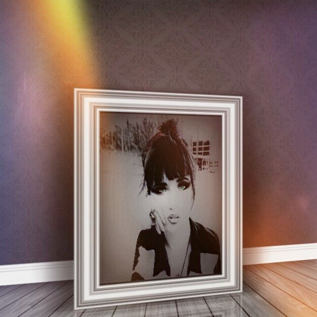 Pic in pic  #FreeToEdit #myeditoffreetoedit #doubleexpousure #frame #girl #lights #emotions #myinspiration