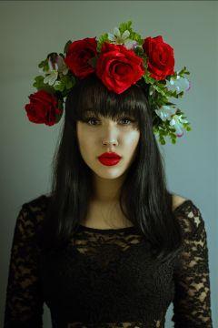 girl rose redrose lips eyes
