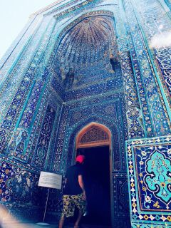 architecture blue travel mosque