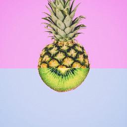 FreeToEdit pineapple kiwi fruit nature half myedit liliac lightblue nature minimal