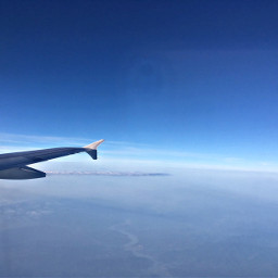 freetoedit blue sky airplaneview myphoto